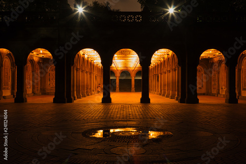 фотография A wide angle over Bethesda fountain