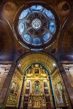 Beautiful Paintings Of The Saints Inside Of The Santuari De Lluc Church On Mallorca