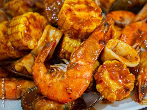 cajun mixed seafood