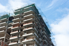 Construction Site Of A Multi-story Apartment Block Multi-story Apartment Block - Upward View Image