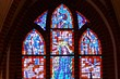Stained-glass window.