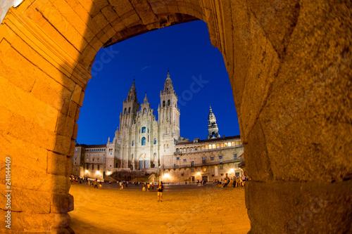 santiago de compostela is the capital of northwest Spain's Galicia region Fototapet