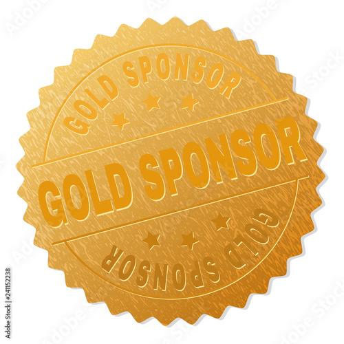 GOLD SPONSOR gold stamp seal Wallpaper Mural