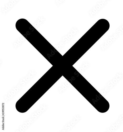 Cross icon no symbol vector illustration Wall mural