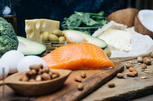 Ketogenic Diet Low Carbs Hight Fat Products Healthy Eating Food Meal Plan Protein Fat Healthy Nutrition Keto Lunch Ketogenic Diet Breakfast Buy This Stock Photo And Explore Similar Images At Adobe