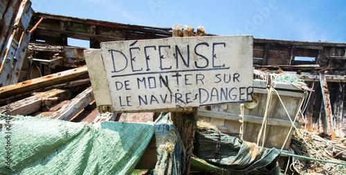 Cimetière à bateaux Ile de Bréhat Bretagne France