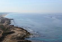 White Rocks And Grottoes At Coast Of Rosh Hanikra, North Of Israel, Mediterranean Sea