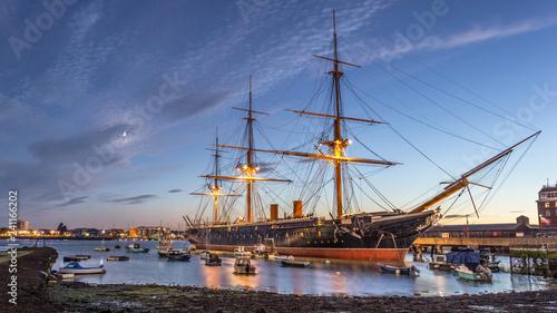 Türaufkleber Schiff HMS Warrior