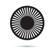 Abstract Black Circle