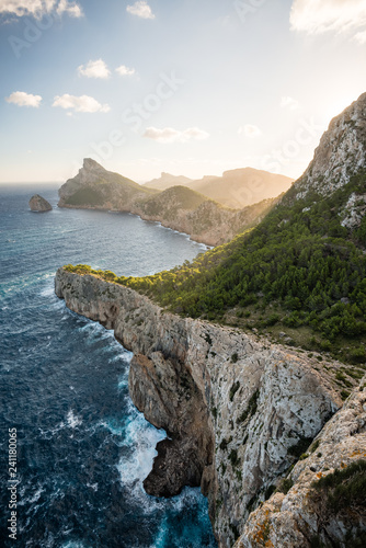 Scenic view on Cap de Formentor early in the morning, Mallorca island, Spain