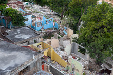 Collapsed Homes Are Seen In Haiti After The 2010 Earthquake.