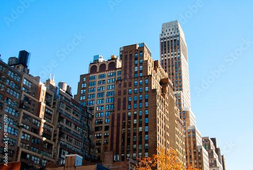 Foto op Canvas Amerikaanse Plekken New York City residential buildings