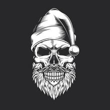 Skull Santa Claus Vintage Styl...