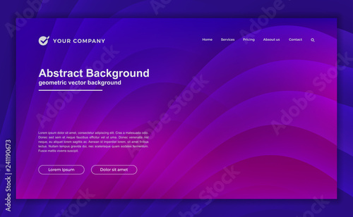 Photo Trendy abstract purple background for your landing page design