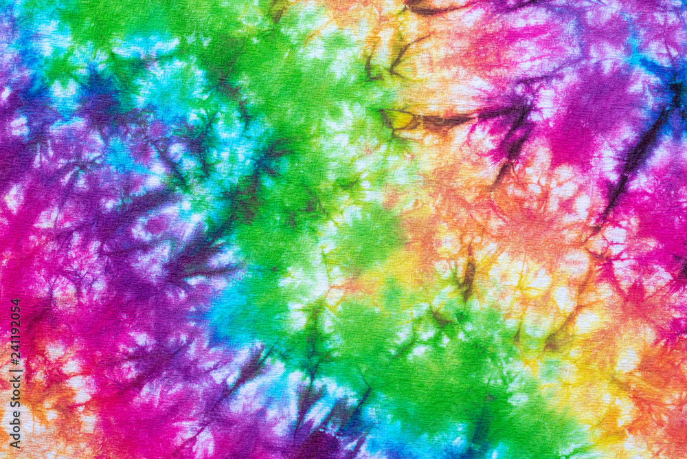 Fototapety, obrazy: colorful tie dye pattern abstract background