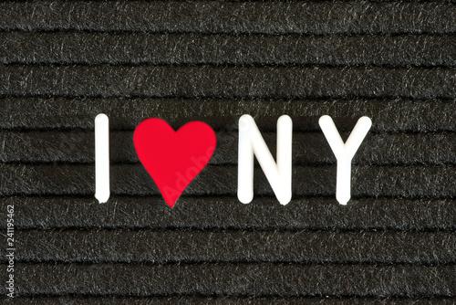 In de dag New York City Eine Tafel und Slogan Ich Liebe New York