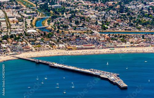 Santa Cruz Beach Aerial View Canvas Print