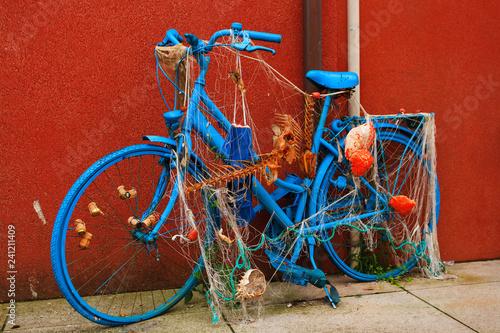 Türaufkleber Fahrrad Blue bicycle