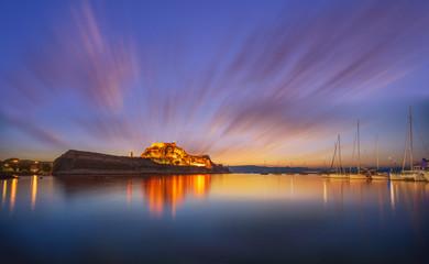castle of Corfu town Greece