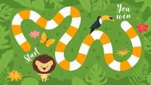 Tropic Jungle Board Game