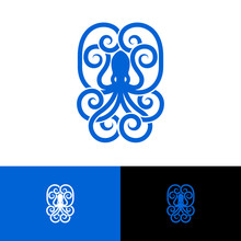Octopus Emblem. Octopus Logo I...
