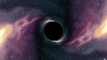 Black Hole Pulls In Nebula Star Space Time Funnel Pit Seamless Loop Animation Background New Quality Universal Science Cool Nice 4k Stock Video Footage