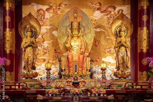 Vászonkép Buddhist temple Singapore chinatown