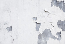 Close Up Of Grunge Peeling Concrete Wall