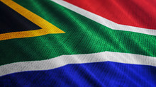 South Africa Flag Is Waving 3D...