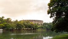 Pampulha Lake Belo Horizonte Minas Gerais Brazil/ Mineirinho Gymnasium