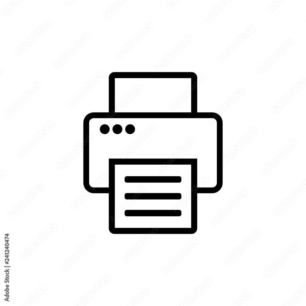 Fototapety, obrazy: drukarka ikona