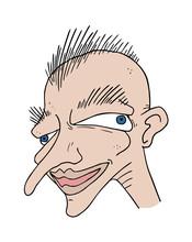 Funny Ugly Man Illustration