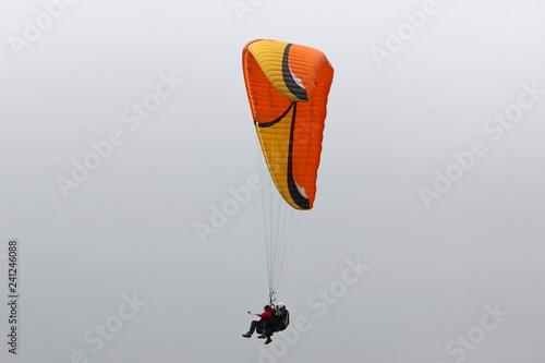 Tandem Paraglider flying wing