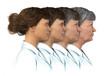 canvas print picture - Female Age Progression - 20 to 80