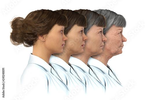 Fotografía  Female Age Progression - 20 to 80