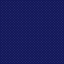 Polka Dots Seamless Pattern - Tiny White Polka Dots On Navy Blue Background