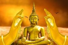 Tian Tan Buddha From In Lantau Island, Hong Kong.design With Copy Space Add Text.