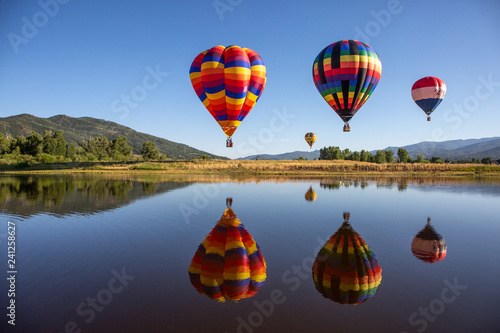 Aluminium Prints Balloon hot air balloons