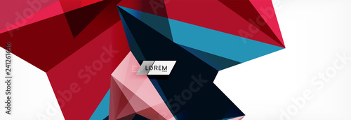 Fototapeta Science background. Abstract triangle pattern. Vector abstract geometric template