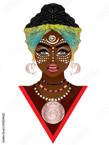 Fotomural African voodoo woman