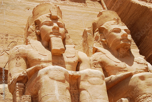 Fotografie, Obraz  Statue of Pharaoh Ramesses II at the Great Temple of Abu Simbel, Egypt