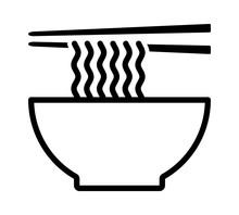 Ramen Noodle Soup Bowl With Ch...