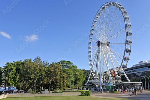 Staande foto Oceanië Wheel of Brisbane Ferris wheel
