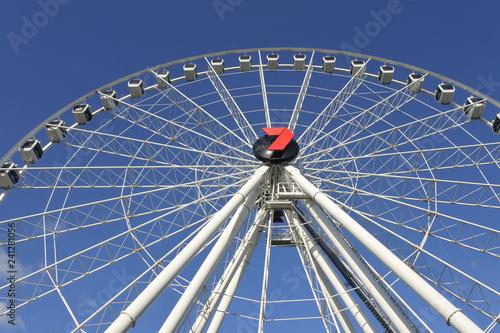 Spoed Foto op Canvas Oceanië Wheel of Brisbane Ferris wheel
