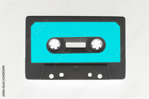 Fotografía  Audio cassette illustration isolated on white, for design.