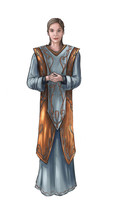 Concept Art Fantasy Illustration Of Beautiful Young Woman Priestess, Sorceress Or Witch