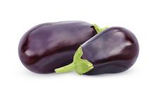 Aubergine (eggplant) Isolate On White Background.