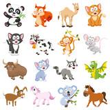 Fototapeta Fototapety na ścianę do pokoju dziecięcego - Vector Illustration Of Cartoon Animals Collection