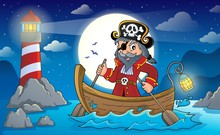 Pirate In Boat Topic Image 2