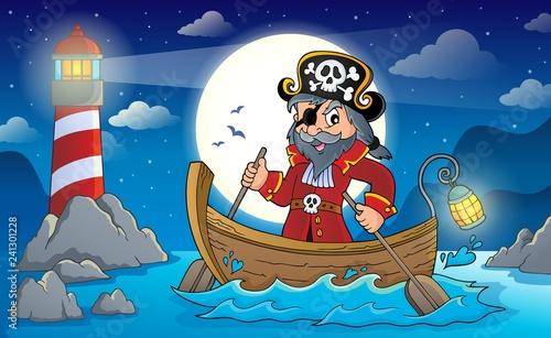 Keuken foto achterwand Voor kinderen Pirate in boat topic image 2